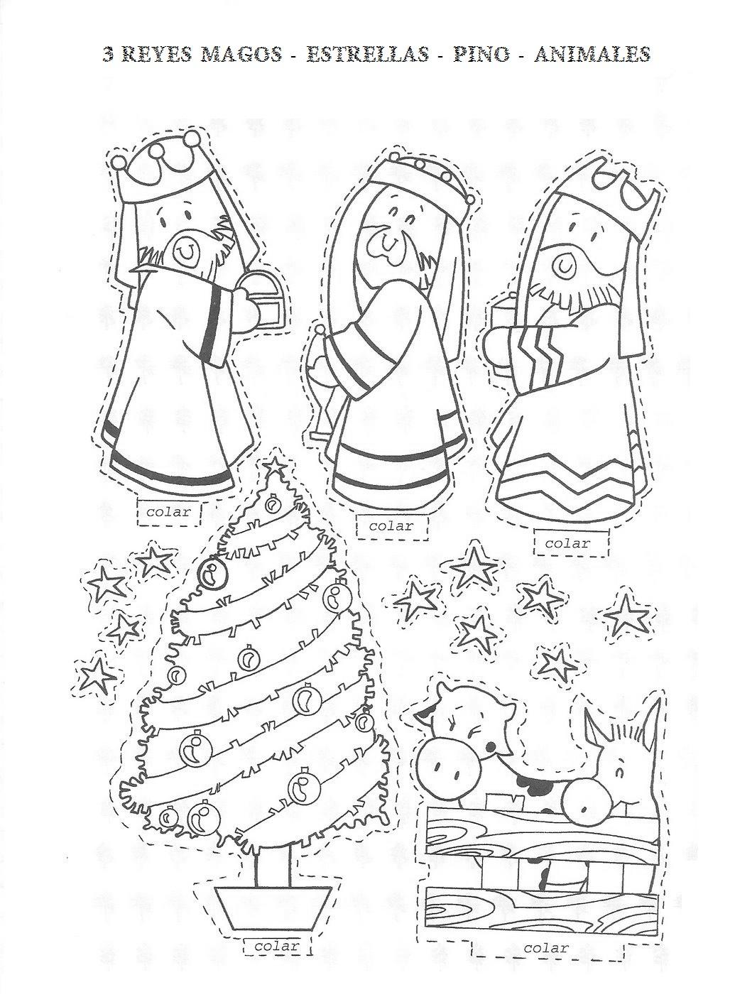 Blog para una Navidad Feliz: Figuras para montar un Nacimiento