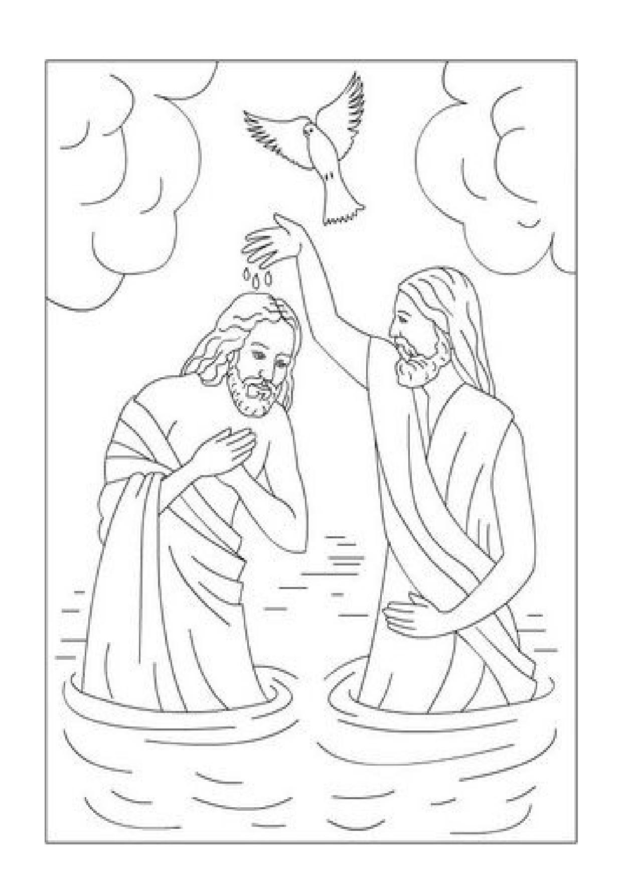Inspirador Imagenes Del Bautismo De Jesus Para Colorear Para Niños ...